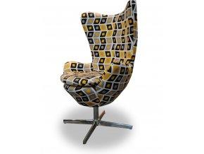 Designové křeslo Avo, pohodlné, vzorovaná látka
