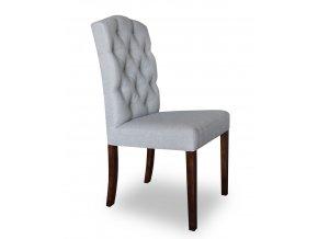 Designová židle East, šedivé čalounění