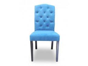 Designová židle East, modrá barva