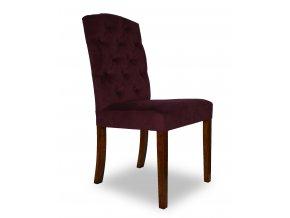Designová židle East, vínová