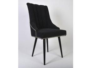 Designová prošitá židle Excelent s připínáčky, kulaté nohy