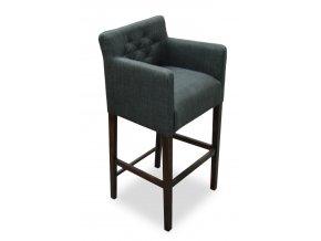 Designové prošité barové křeslo se zesíleným sedákem