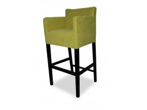 Designové barové křeslo se zesíleným sedákem, zelené