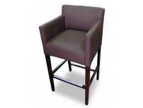 Designové barové křeslo se zesíleným sedákem, vysoké
